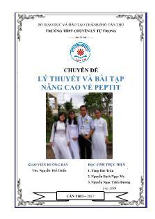 Chuyên đề Lý thuyết và bài tập nâng cao về peptit