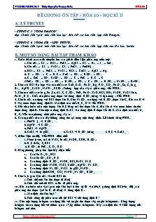 Đề cương ôn tập - Hóa 10 - Học kì II