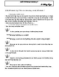 Đề cương Tin Học 6 - Học kì 1