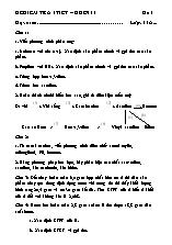 Đề kiểm tra 1 tiết Hoa học – Khối 11 - Chương 6