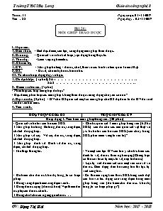Giáo án Công nghệ 8 - Tiết 22 Bài 26 - Mối ghép tháo được