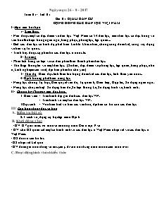 Giáo án Đại lý 9 - Tiết 1 đến 7