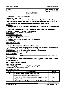 Giáo án Hóa học 9 - Tiết 24 Bài 18 - Nhôm