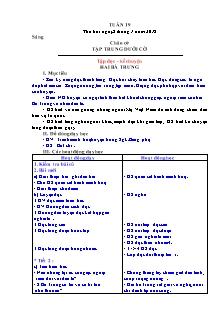 Giáo án Lớp 3 - Tuần 19 (theo thông tư 22)