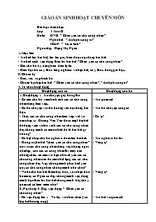 """Giáo án Lớp 3 tuổi - Giờ học Âm nhạc - Đề tài: DVĐ: """" Cháu yêu cô chú công nhân"""""""
