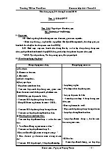 Giáo án lớp 3A – Tuần 24 - Trường TH La Văn Cầu