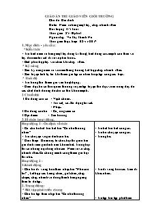 Giáo án Lớp 4, 5 tuổi - Chủ đề: Gia đình - Đề tài: Ném xa bằng một tay, chạy nhanh 10m