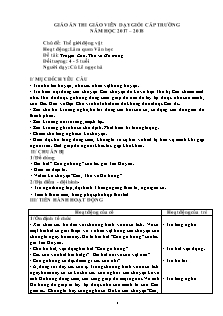 Giáo án Lớp 4, 5 tuổi - Làm quen Văn học - Đề tài: Truyện Cáo, Thỏ và Gà trống
