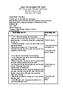 Giáo án Lớp 4- 5 tuổi - Làm quen với toán - Đề tài: So sánh chiều dài 3 đối tượng