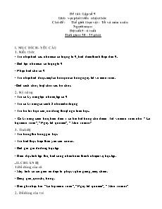 Giáo án Lớp 5, 6 tuổi - Đề tài: Lập số 9 - Lĩnh vực phát triển nhận thức - Chủ đề: Thế giới thực vật - Tết và mùa xuân