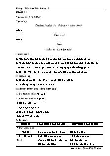 Giáo án Lớp 5 - Tuần 11 - Trường Tiểu học Tích Lương 1