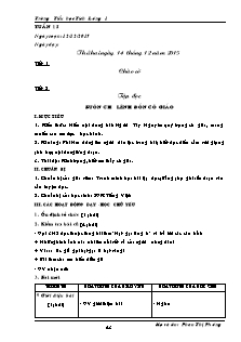 Giáo án Lớp 5 - Tuần 15 - Trường Tiểu học Tích Lương 1