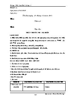 Giáo án Lớp 5 - Tuần 16 - Trường Tiểu học Tích Lương 1