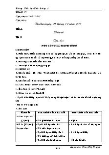 Giáo án Lớp 5 - Tuần 17 - Trường Tiểu học Tích Lương 1