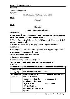 Giáo án Lớp 5 - Tuần 19 - Trường Tiểu học Tích Lương 1
