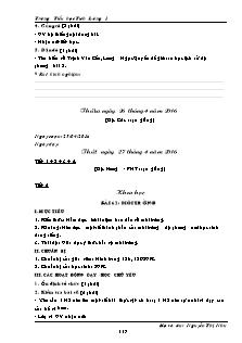Giáo án Lớp 5 - Tuần 32 - Trường Tiểu học Tích Lương 1