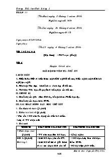 Giáo án Lớp 5 - Tuần 33 - Trường Tiểu học Tích Lương 1