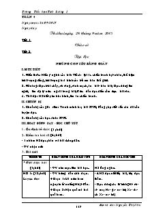 Giáo án Lớp 5 - Tuần 4 - Trường Tiểu học Tích Lương 1