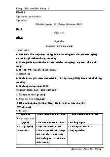 Giáo án Lớp 5 - Tuần 8 (Phần 1) - Trường Tiểu học Tích Lương 1