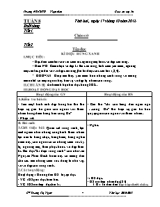 Giáo án Lớp 5 - Tuần 8 - Trường PTDTBT TH Nhạn Môn