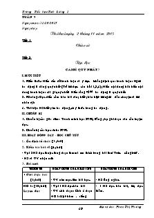 Giáo án Lớp 5 - Tuần 9 (Phần 1) - Trường Tiểu học Tích Lương 1