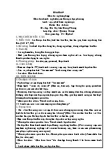 Giáo án Lớp Chồi -  Phát triển ngôn ngữ - Đề tài: Thơ: Đi bừa