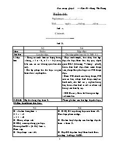 Giáo án lớp ghép 2 + 4 – Tuần 10 – Phùng Văn Hoàng