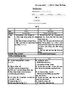 Giáo án lớp ghép 2 + 4 – Tuần 11 – Phùng Văn Hoàng