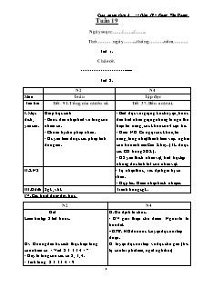 Giáo án lớp ghép 2 + 4 – Tuần 19 – Phùng Văn Hoàng