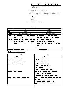 Giáo án lớp ghép 2 + 4 – Tuần 22 – Phùng Văn Hoàng