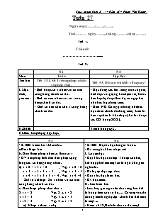 Giáo án lớp ghép 2 + 4 – Tuần 27 – Phùng Văn Hoàng