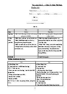 Giáo án lớp ghép 2 + 4 – Tuần 33 – Phùng Văn Hoàng