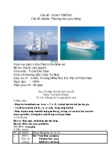 Giáo án Lớp Lá (5 – 6 tuổi) - Đề tài: Em đi chơi thuyền