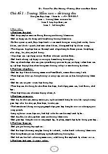 Giáo án Mầm non - Chủ đề 1: Trường Mầm non – tết trung thu - Gv: Phạm Thị Mai Hương - Trường Mầm non Nam Chính