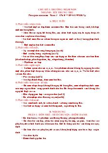 Giáo án Mẫu giáo lớn - Chủ đề I: Trường mầm non - Nhánh: Tết trung thu