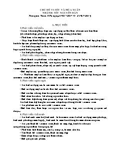 Giáo án Mẫu giáo lớn - Chủ đề VI: Tết và mùa xuân - Nhánh: Tết nguyên đán