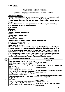 Giáo án Ngữ văn 11 học kì 1