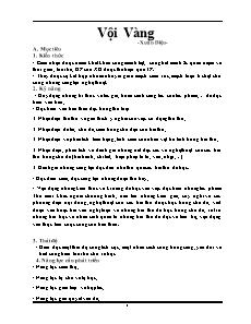 Giáo án Ngữ văn 11: Vội Vàng - Xuân Diệu