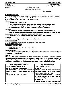 Giáo án Ngữ văn 7 - Tuần 12 - Trường THCS Đạ Long
