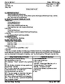 Giáo án Ngữ văn 7 - Tuần 13 - Trường THCS Đạ Long