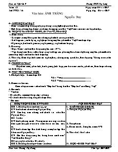 Giáo án Ngữ văn 9 - Tuần 12 - Trường THCS Đạ Long