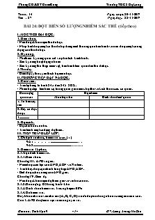Giáo án Sinh học 9 - Tiết 27 Bài 24 - Đột biến số lượng nhiễm sắc thể (tiếp theo)