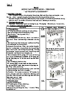 """Giáo án Thể dục 5 - Bài 25 - Động tác thăng bằng – trò chơi """"ai nhanh và khéo hơn"""""""