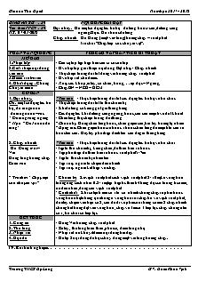 Giáo án Thể dục 6 - Tuần 21 - Bật nhảy và chạy nhanh