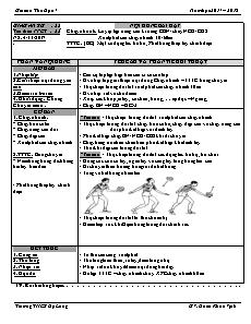 Giáo án Thể dục 7 - Tuần 12 - Chạy nhanh và bóng chuyền