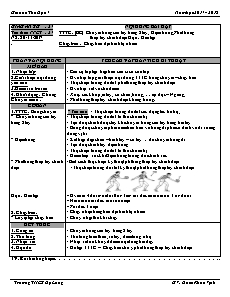 Giáo án Thể dục 7 - Tuần 14 - Bóng chuyền và chạy bền
