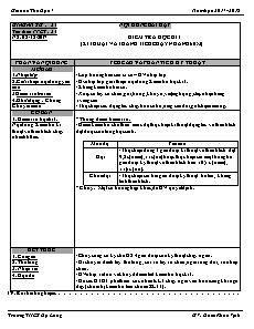 Giáo án Thể dục 7 - Tuần 16