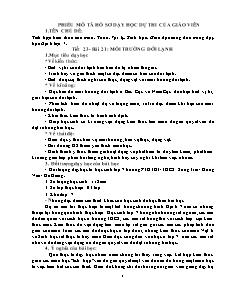 Giáo án Tích hợp kiến thức các môn - Địa lí lớp 7 - Tiết 23 Bài 21: Môi trường đới lạnh