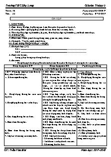 Giáo án Tin học 6 - Tiết 33 - Ôn tập
