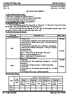 Giáo án Tin học 6 - Tiết 36 - Bài kiểm tra học kì I